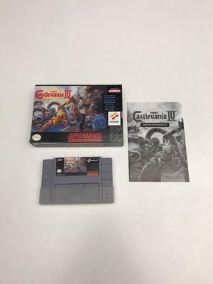Super Castlevania IV Super Nintendo SNES for Sale in Snohomish, WA