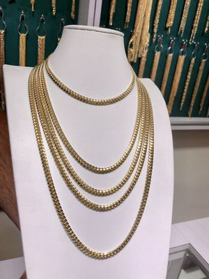 14k Gold Miami Cuban Link Chains-All Sizes for Sale in Los Angeles, CA