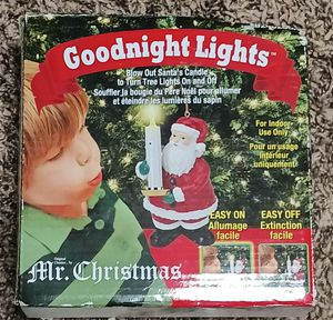 Mr Christmas Goodnight Lights Blow Out Santa's Candle Turn On & Off Tree Lights for Sale in Mesa, AZ