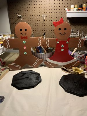 Handmade Gingerbread boy and girl for Sale in High Point, NC
