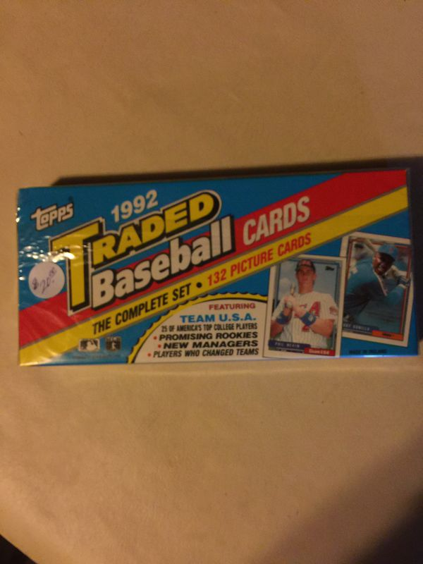 1992- Topps Traded Set.