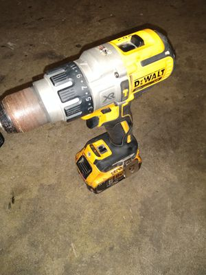 DeWalt hammer drill cordless with battery and charger for Sale in Poplar Grove, IL