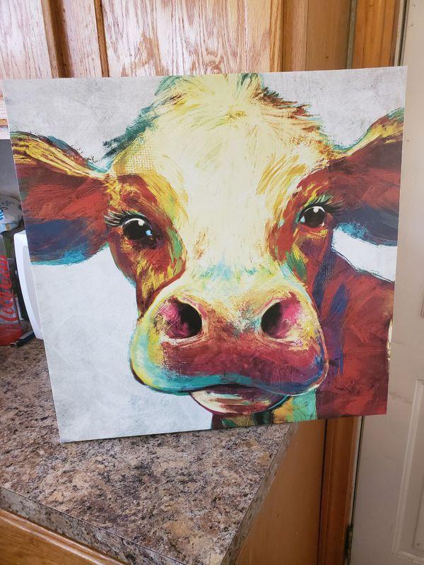 Cow canvas 20x20