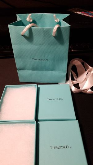 Original Tiffany bag and box only for Sale in Irvine, CA