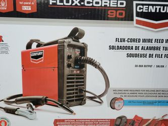 Century 90 Amp FC90 Flux Core Wire Feed Welder and Gun, 120V for Sale in San Antonio,  TX