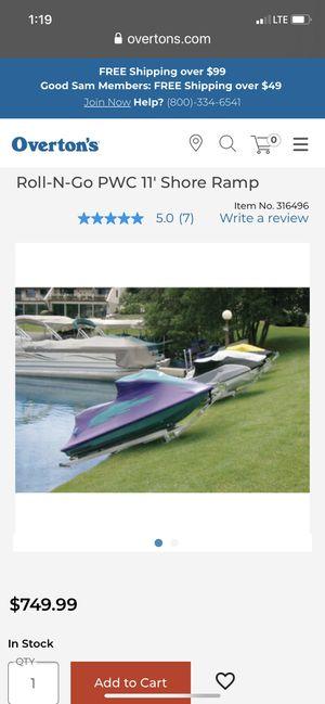 Roll-N-Go 11' PWC Jetski shore trailer ramp for Sale in San Antonio, TX