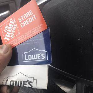 Lowe's Giffy 1000$ Credit For 600 $ Cash for Sale in Taylor, MI