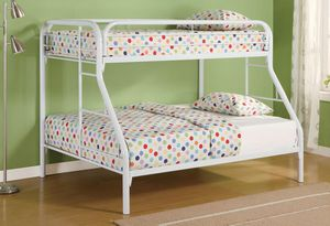 White TWIN/FULL BUNK BED for Sale in Hollywood, FL