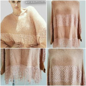 Anthropologie RYU cozy fringe poncho/sweater for Sale in Miami, FL