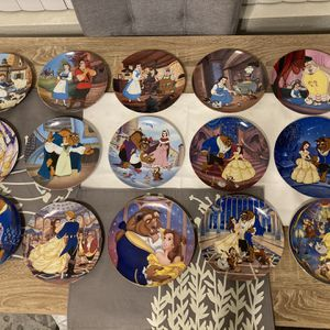 Disney Beauty and the Beast Set of 15 plates for Sale in San Diego, CA