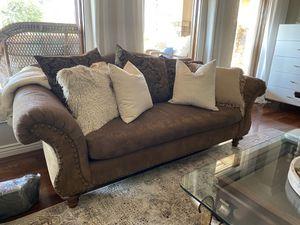 High Quality Calico Corners Chenile w/ Nailheads Custom Couch for Sale in Scottsdale, AZ