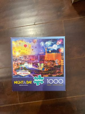 Buffalo Games Day & Night Fabulous Las Vegas puzzle for Sale in Orange, CA