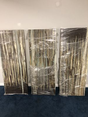 Abstract Wall Art (3 piece) for Sale in Blackwood, NJ