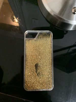 iPhone 7/8 gold glitter case for Sale in Pittsburgh, PA
