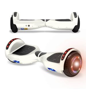 NEW WHITE BLUETOOTH SELF BALANCING HOVERBOARD LEDS MUSIC LIGHTS for Sale in Ypsilanti, MI