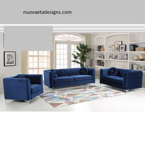 2 PCS Salamance Sofa set, matching accent chair is also available $1,129.00. Super sale! In stock! Limited time offer! Free delivery 🚚 for Sale in Ontario, CA