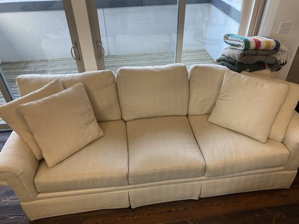 Beautiful Oversized Reversible American Made Century Sofa