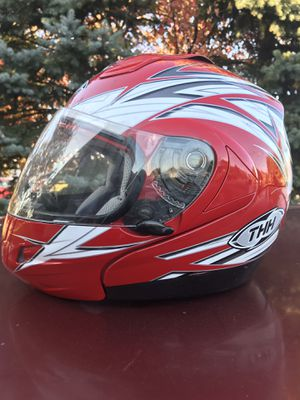 THH Street motorcycle helmet T-796 Red white black gray for Sale in Brunswick, OH