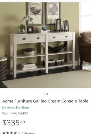 Acme Furniture Galileo Cream Console Table for Sale in Columbus, OH