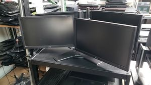 Dual Screen Computer Monitor with Stand - 20 22 and 24inch - Dell Hp Lenovo Acer Asus for Sale in San Diego, CA