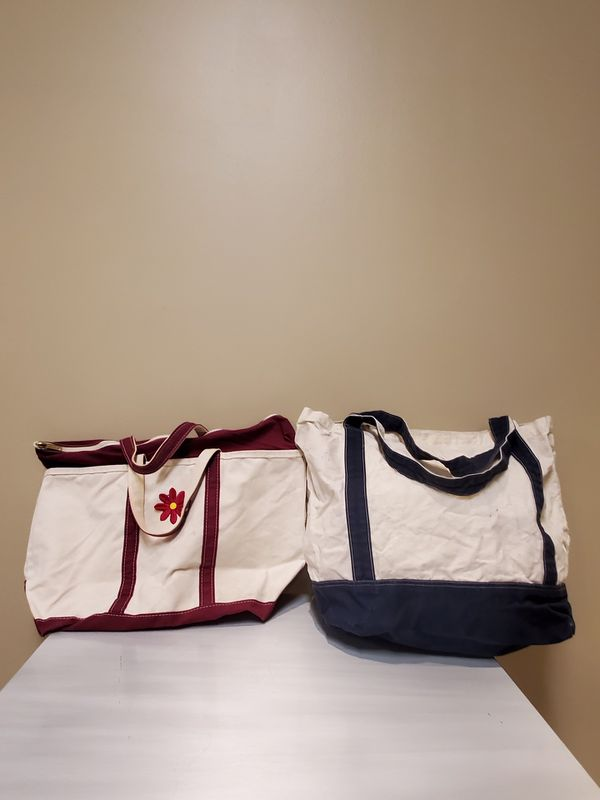 VERY LARGE, HEAVY-DUTY COTTON CANVAS TOTES
