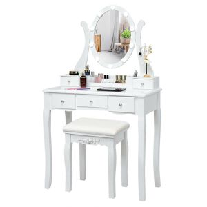 Touch Switch Makeup Dressing Vanity Table Set with 10 Light (p) for Sale in Fontana, CA