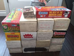 16 baseball card complete sets Topps donruss fleer upper deck Griffey sports cards for Sale in Portland, OR