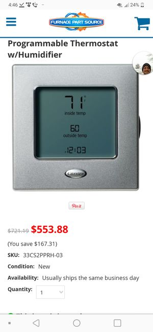 Programmable thermostat with humidifier for Sale in Denver, CO