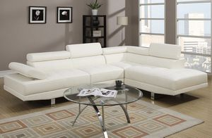 Brand New! White Leather Luxury Sectional for Sale in Orlando, FL