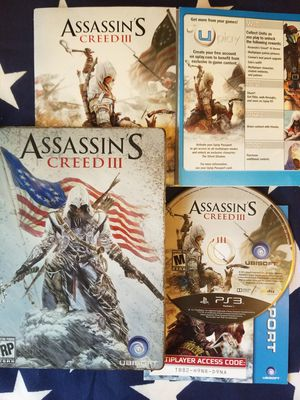 Assassins Creed 3 Steelbook Edition (PS3) for Sale in US