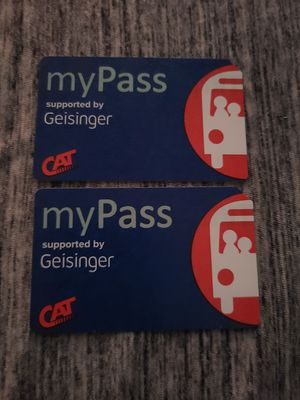 2 CAT bus passes with 11 rides each for Sale in Harrisburg, PA