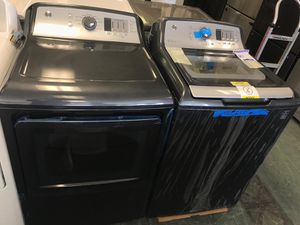 Ge brand new top load washer and dryer electric set with one year warranty for Sale in Lake Ridge, VA