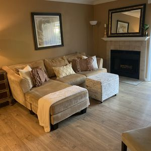 Free - Small Tan Sectional for Sale in Laguna Woods, CA
