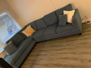 Blue sectional couch for Sale in Long Beach, CA