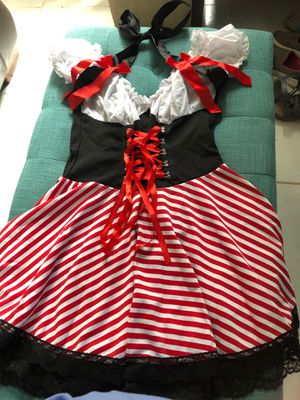 Pirate small dress, adult costume, Halloween for Sale in Kissimmee, FL