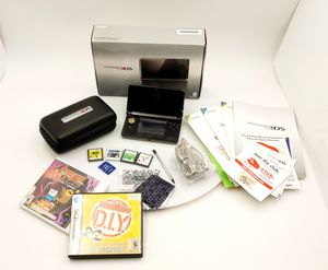 Nintendo 3DS COSMO BLACK Handheld System Console Chgr Stylus 6 Games SDcard box for Sale in Goodlettsville, TN