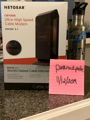 Netgear CM 1000 Gigabit DOCSIS 3.1 Cable modem for Sale in Everett, WA