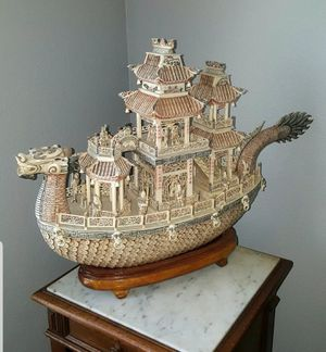 Beautkfully Carved Large Ship for Sale in Corona, CA