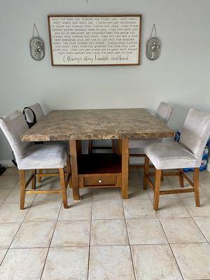 Granite top kitchen table from Costco for Sale in Yorba Linda, CA