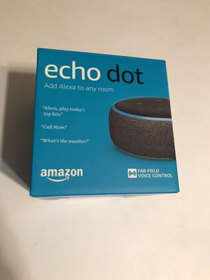 Amazon Echo Dot 3RD Generation With Power Cord In Original Box Tested Working for Sale in Grape Creek, TX
