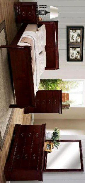 🔹🔹HOT DEAL]Louis Philip Cherry Sleigh Bedroom Set SAME DAY DELIVERY for Sale in Laurel, MD