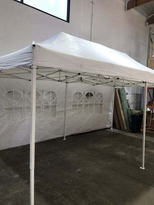 🎉🎉🎉10x20ft Pop Up Canopy Tent with side walls available in BLACK-WHITE-BLUE 🎉🎉🎉 for Sale in Pomona, CA