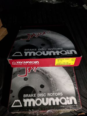 2 Mountain HR-53 Brake Disc Rotors: part interchange number: 45251 TA6 A00, 45251TA6A00 for Sale in Los Angeles, CA