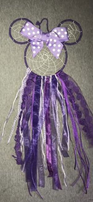 Purple Minnie Mouse Dreamcatcher wall decor for Sale in Milford, CT