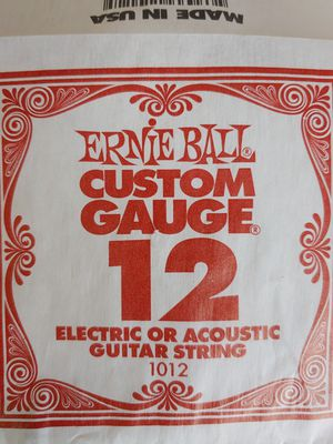 Ernie Ball Guitar String 12 Gauge Acoustic Electric Music Guitar Custom for Sale in Lake Shore, MD