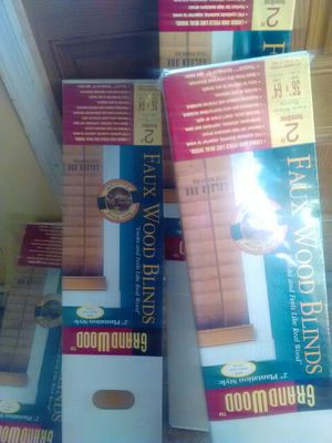 Four faux wood blinds for Sale in Temple Hills, MD
