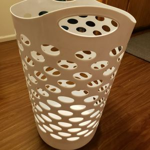 Tall Laundry Basket | White for Sale in Seattle, WA