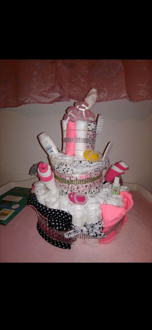 Baby girls diaper cake for Sale in West Valley City, UT