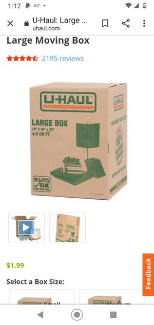 Large Moving Boxes not uhaul for Sale in Philadelphia, PA