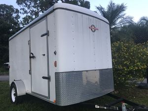 In NEW CONDITION 7x12 Enclosed Trailer Title in hand for Sale in Lake Worth, FL